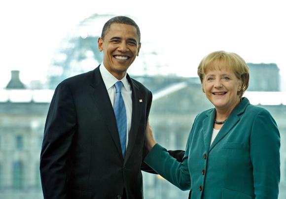 La Merkel ricorda negli Usa la caduta del Muro e rilancia l'alleanza euro-atlantica