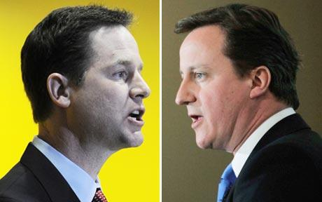 Cameron e Clegg, 'a good deal'