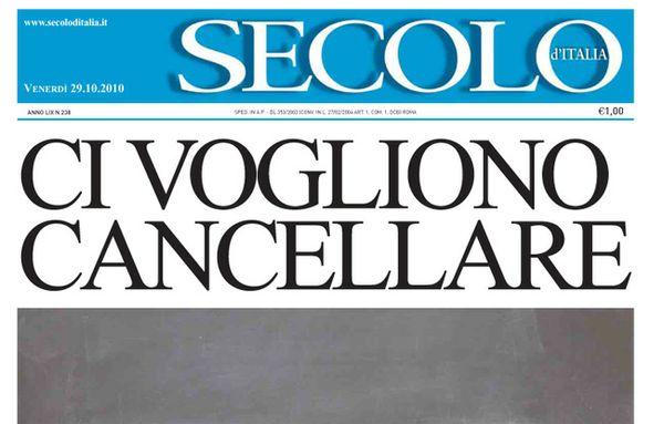 Palma: Sul Secolo d'Italia operazione nichilista - AUDIO